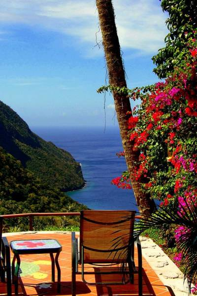 St. Lucia Photograph - Magnificent Ladera by Karen Wiles