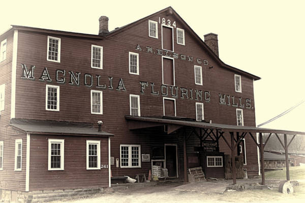 Photograph - Magnolia Flouring Mill by Jack R Perry