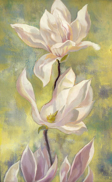 Painting - Magnolia In Garden by Alfred Ng