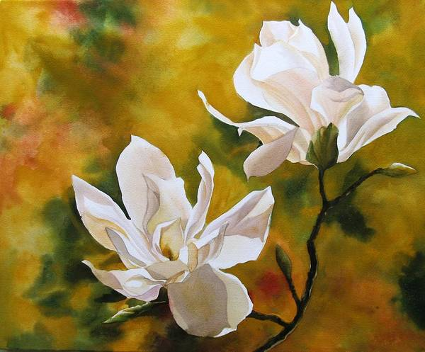 Painting - Magnolia In Spring by Alfred Ng