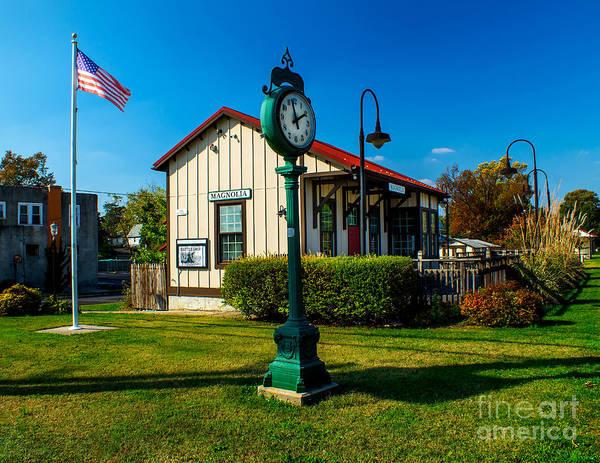 Photograph - Magnolia Train Station by Nick Zelinsky