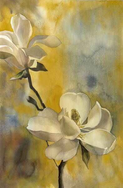 Painting - Magnolia With Yellow by Alfred Ng