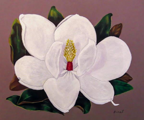 Wall Art - Painting - Magnolia by Zina Stromberg
