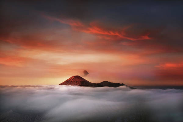Mounted Photograph - Mahameru by Ismail Raja Sulbar