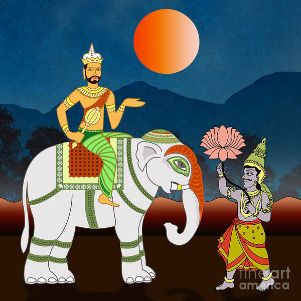 Voyage Digital Art - Maharajah's Journey by Peter Awax