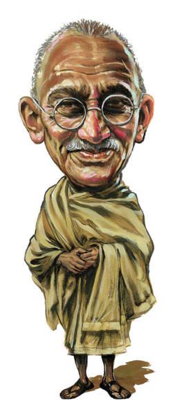 Wall Art - Painting - Mahatma Gandhi by Art