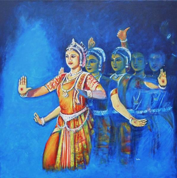 Mahishaasura Mardini Art Print