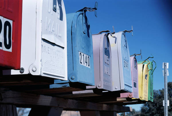 Mailbox Photograph - Mailboxes by Alex Bartel/science Photo Library