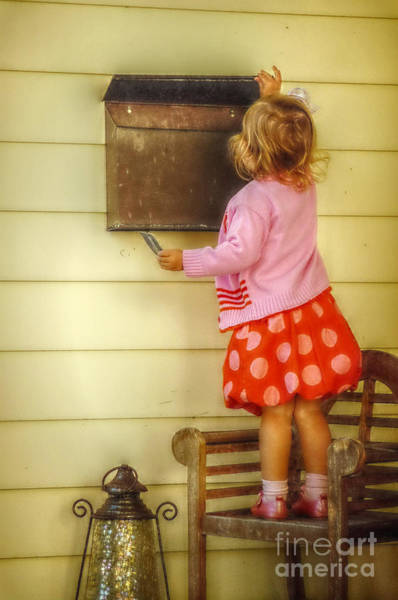 Growing Up Digital Art - Mailing A Letter by Valerie Reeves