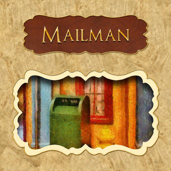 Photograph - Mailman Button by Mike Savad
