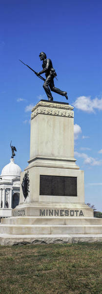 Gettysburg Battlefield Photograph - Main Monument To The First 1st by Panoramic Images
