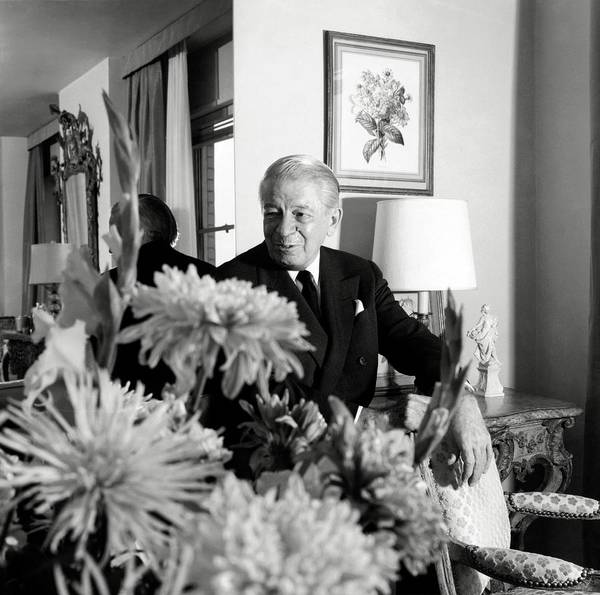 Senior Photograph - Main Rousseau Bocher In His Living Room by Horst P. Horst