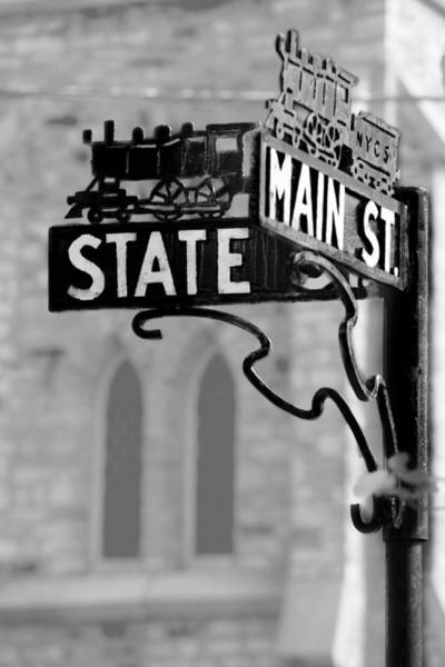 Street Sign Photograph - Main St IIi by Courtney Webster