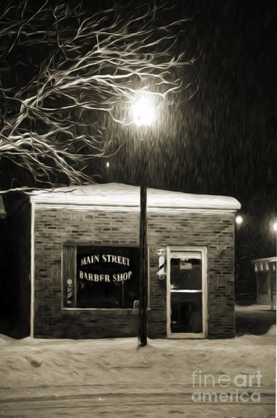 Photograph - Main Street Barber Shop by Andee Design