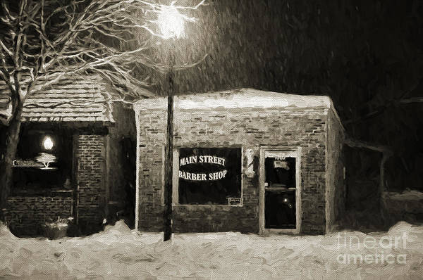 Photograph - Main Street Barber Shop Blue Springs by Andee Design