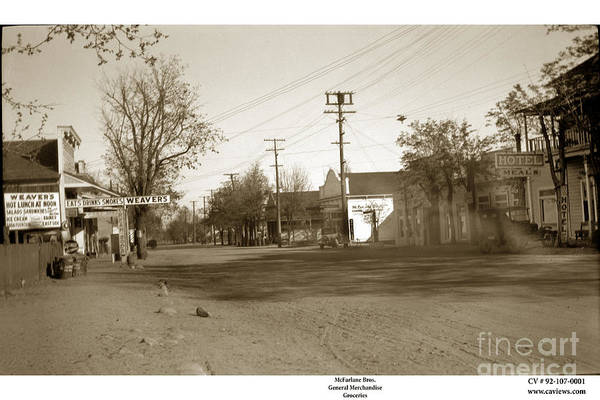 Photograph - Main Street California Circa 1920 by California Views Archives Mr Pat Hathaway Archives