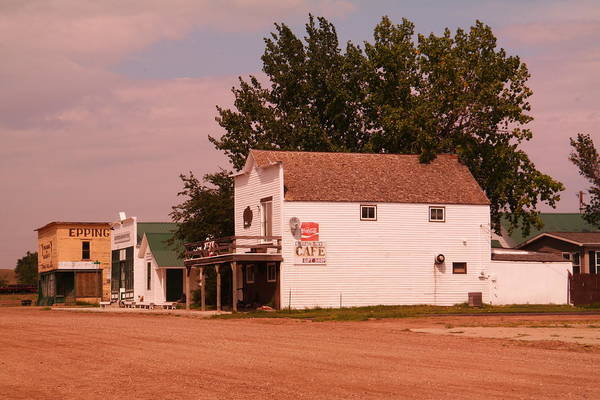 Epping Wall Art - Photograph - Main Street Epping North Dakota by Jeff Swan