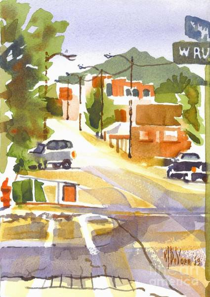 Painting - Main Street Ironton Missouri by Kip DeVore