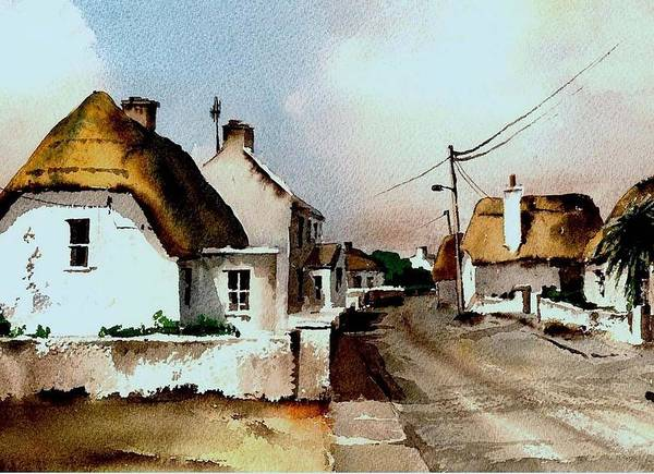 Painting - Wexford  Main Street Kilmore Quay by Val Byrne