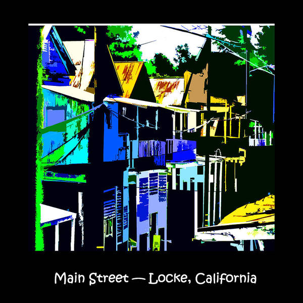 Digital Art - Main Street Locke Ca by Joseph Coulombe