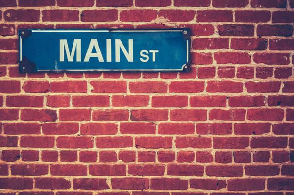 Road America Photograph - Main Street Sign by Mr Doomits