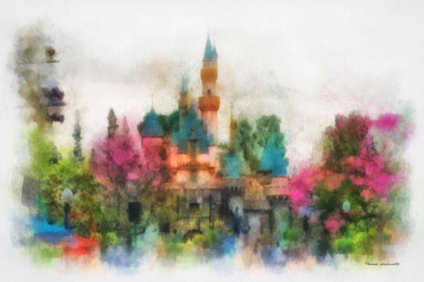 Clothier Photograph - Main Street Sleeping Beauty Castle Disneyland Photo Art 01 by Thomas Woolworth