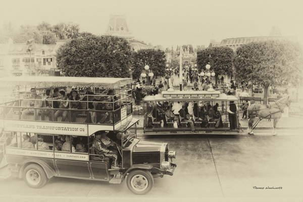 Clothier Photograph - Main Street Transportation Disneyland Heirloom by Thomas Woolworth