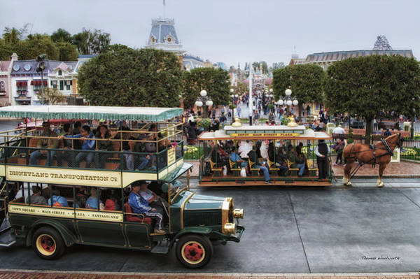 Clothier Photograph - Main Street Transportation Disneyland by Thomas Woolworth