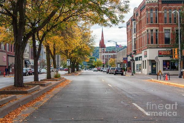 Photograph - Main Street Winona Minnesota by Kari Yearous