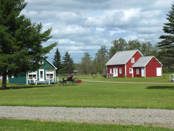 Aroostook County Photograph - Maine Acadian Village 3 by Gene Cyr