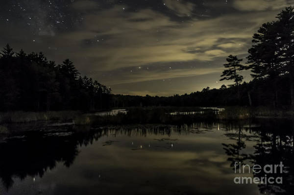Meadowbrook Photograph - Maine Beaver Pond At Night by Patrick Fennell