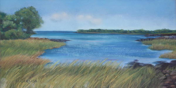 Pastel - Maine Blues by Carol Corliss