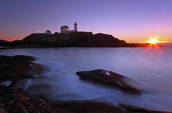 Photograph - Maine Cape Neddick Nubble Lighthouse by Juergen Roth