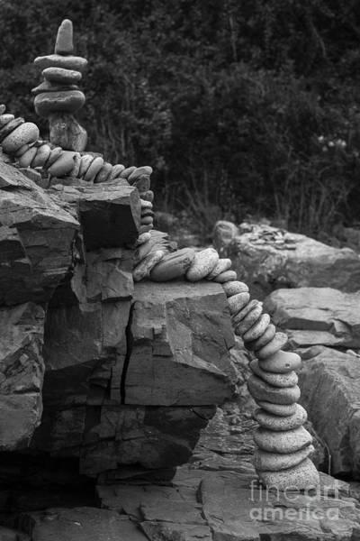 Photograph - Maine Cairns by Steven Ralser