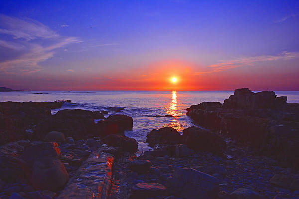Maine Coast Sunrise Art Print