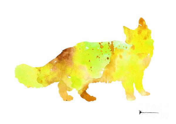 Maine Coon Cat Silhouette Art Poster Art Print