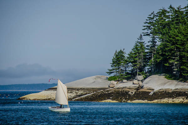 Photograph - Maine Dinghy Sailing by Jennifer Kano