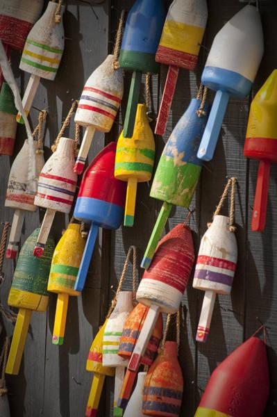 Maine Fishing Buoys Art Print