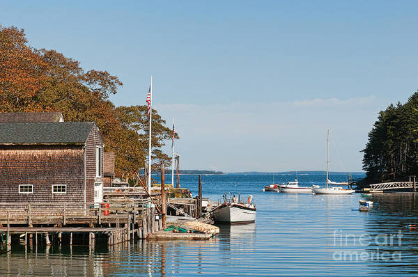 Photograph - Maine Fishing Village by Sharon Seaward