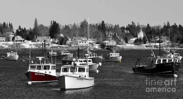 Photograph - Maine Harbor by Karin Pinkham