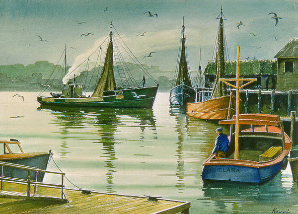 Maine Wall Art - Painting - Maine Harbor by Paul Krapf
