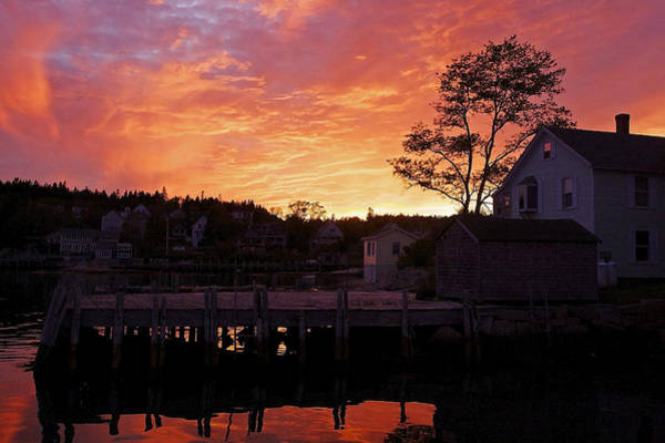 Photograph - Maine Harbor Sunset by Stuart Litoff