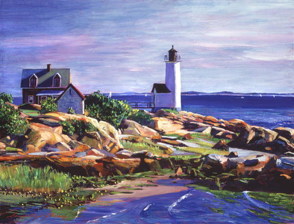 Painting - Maine Lighthouse by David Lloyd Glover