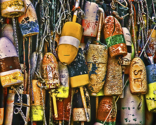 Photograph - Maine Lobster Buoys by Ginger Wakem