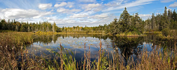 Photograph - Maine Pond Panorama by Jim Dollar