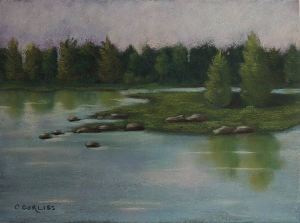 Pastel - Maine Reflections by Carol Corliss