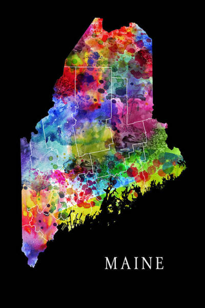Syrup Digital Art - Maine State by Daniel Hagerman