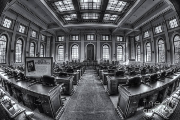 Photograph - Maine State House House Chamber II by Clarence Holmes
