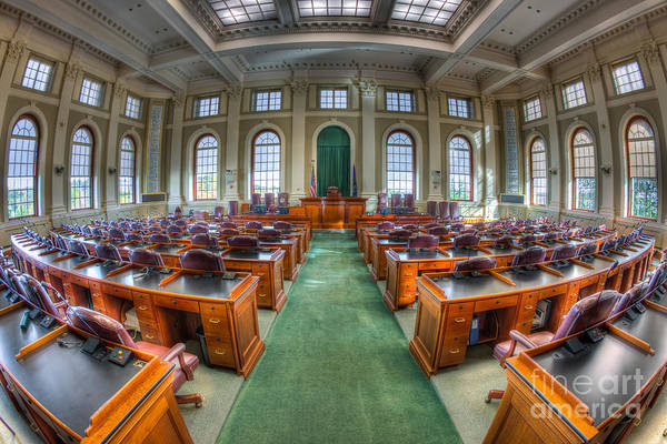 Photograph - Maine State House House Chamber IIi by Clarence Holmes
