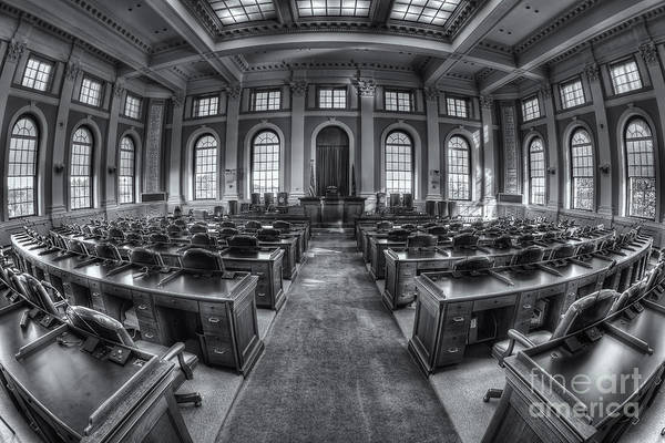 Photograph - Maine State House House Chamber Iv by Clarence Holmes